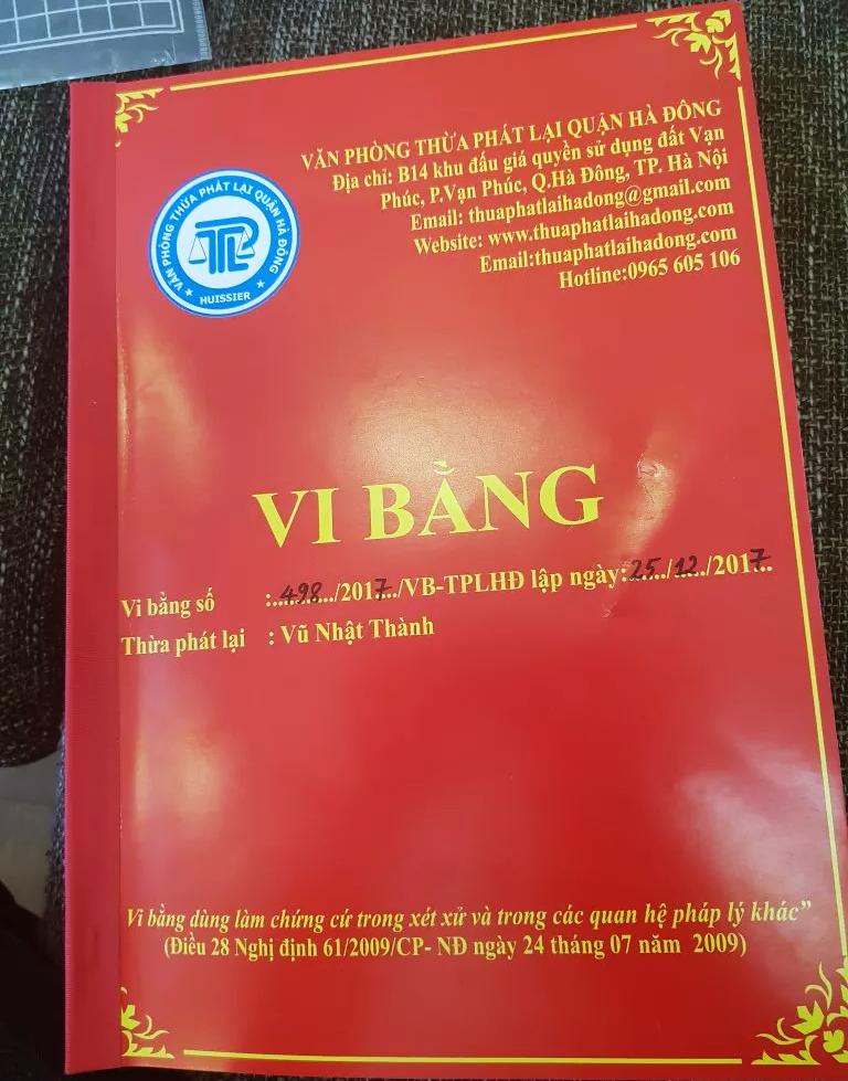 Vi bằng đất dịch vụ Nam An Khánh