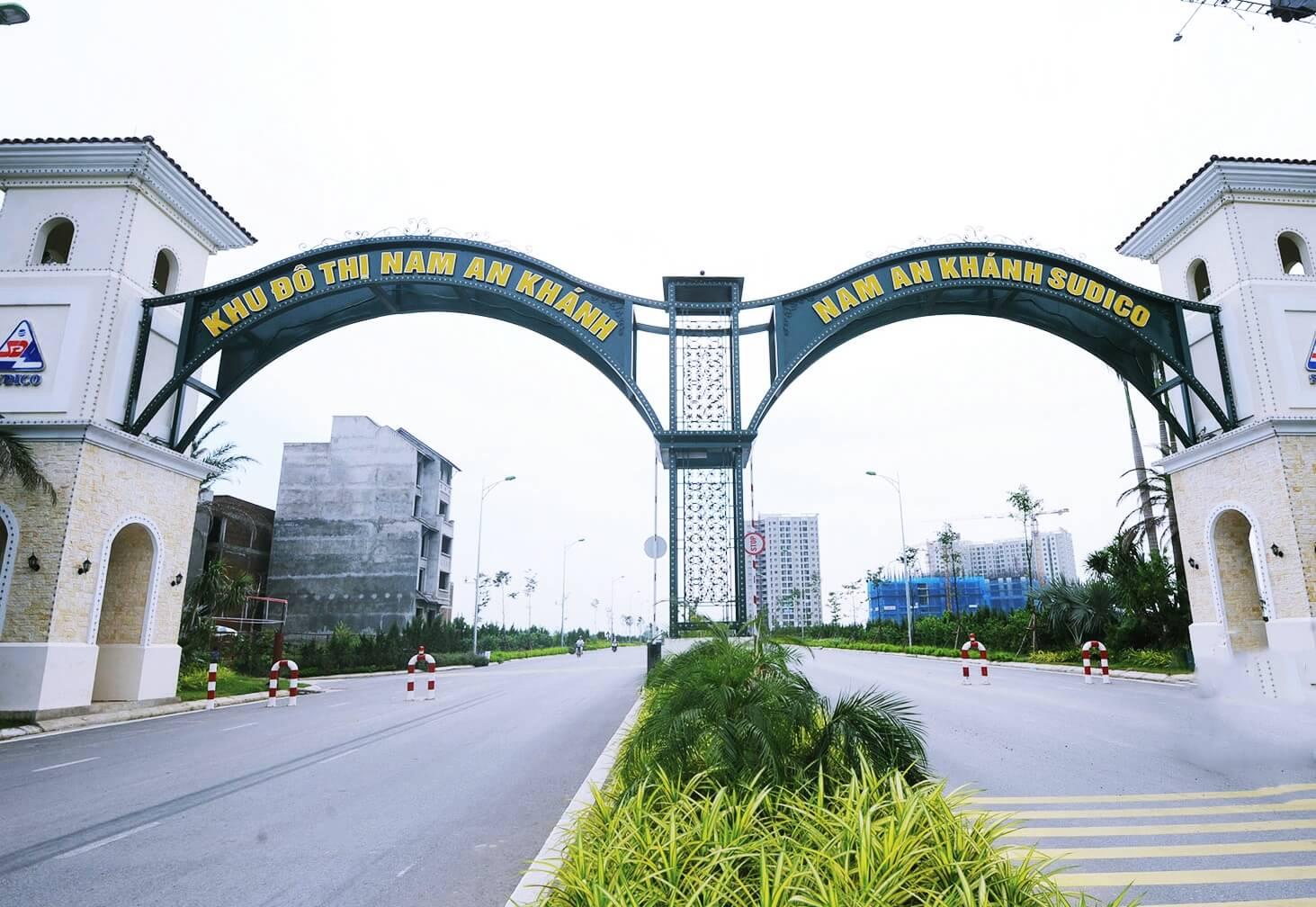 Cổng chào khu đô thị Nam An Khánh Sudico