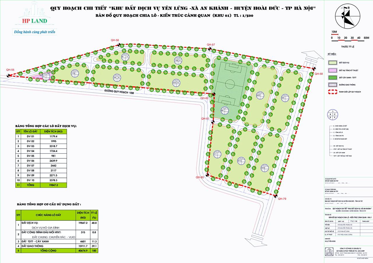 Quy hoạch đất dịch vụ Thôn Yên Lũng
