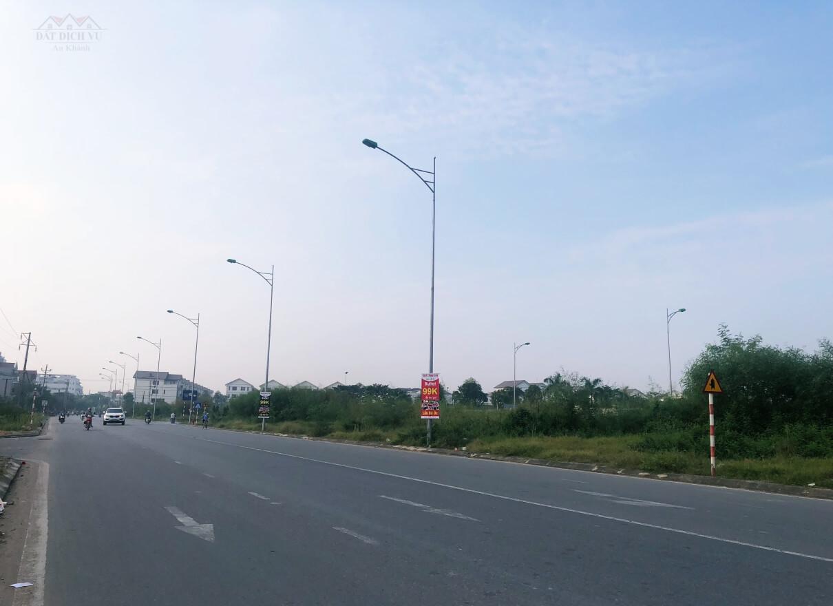Đường xá giao thông tại khu đất dịch vụ An Khánh