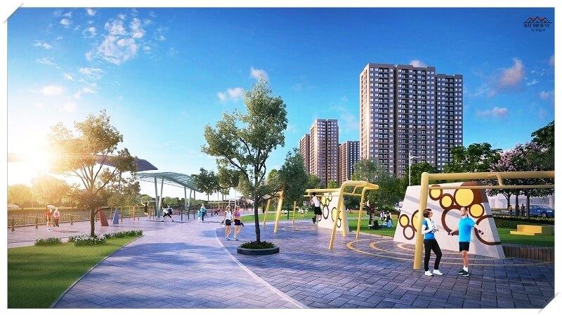 Công viên khu đô thị Vincity gần đất dịch vụ An Khánh